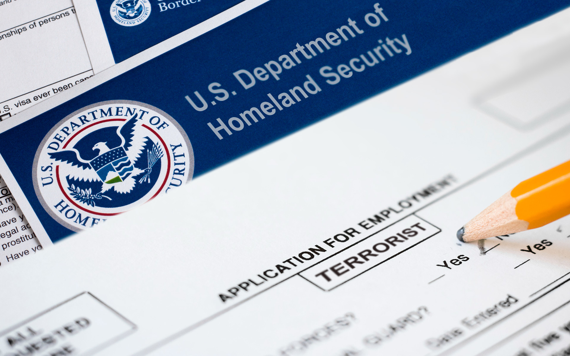 department of homeland security DHS terrorist job application