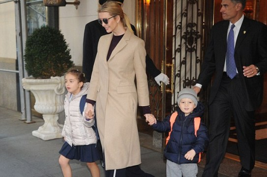 Ivanka Trump, photographed leaving her apartment in New York City with Arabella and Joseph, is also going to hire a chief of staff as part of her role as first daughter